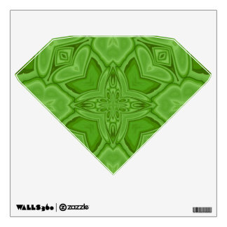 Green abstract wood pattern room graphic