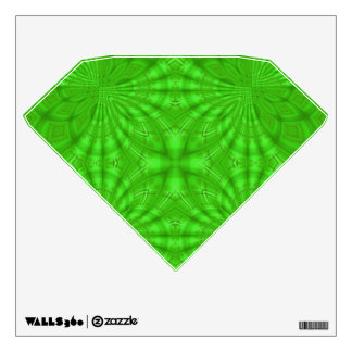 Green abstract wood Pattern Room Stickers