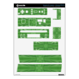 Green abstract wood Pattern Wii Skin