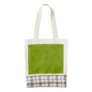 Green abstract wood pattern zazzle HEART tote bag