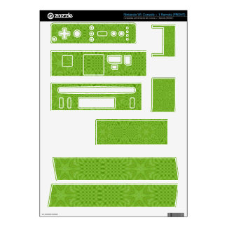 Green abstract wood wii decals