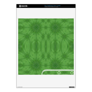 Green abstract wood skins for PS3 slim