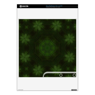 Green abstract wood skins for the PS3 slim
