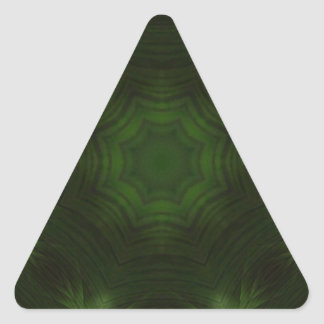 Green abstract wood triangle sticker