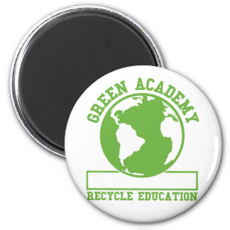 Green Academy Recycle 2 Inch Round Magnet