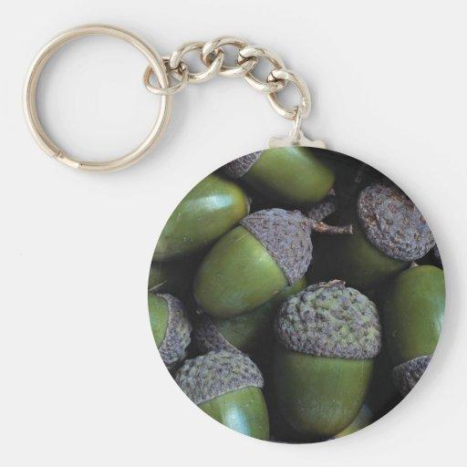 Green Acorn nuts Keychains