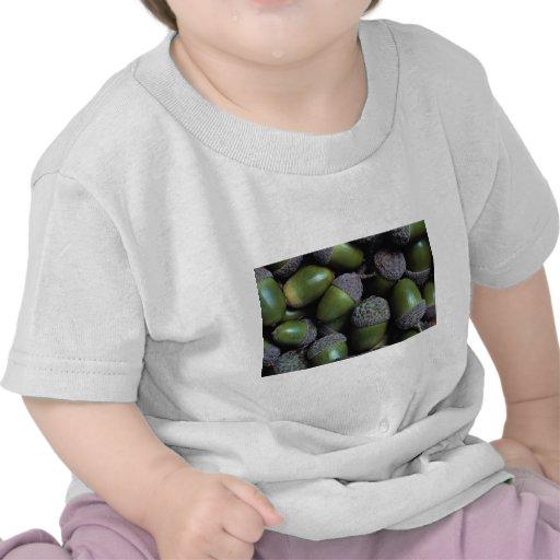 Green Acorn nuts Tee Shirts