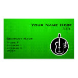 Green Acoustic Guitar Business Card