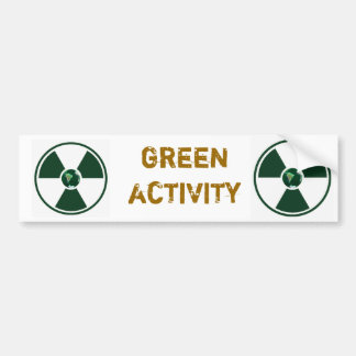 Green_Activity_001 Bumper Stickers
