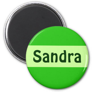 green add your name 2 inch round magnet