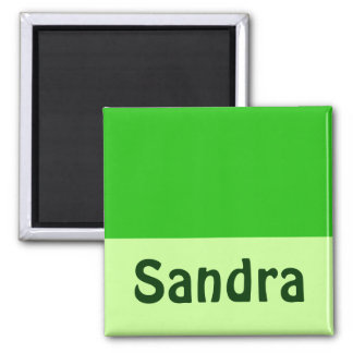 green Add your name 2 Inch Square Magnet