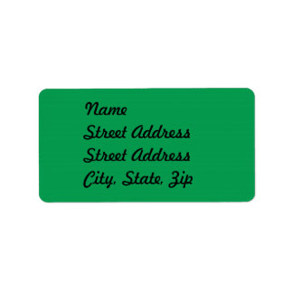 Green Address Sticker Label