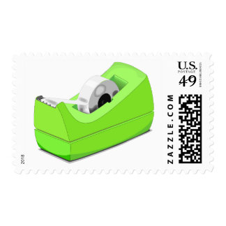 Green Adhesive Scotch Tape Stationary Stamp