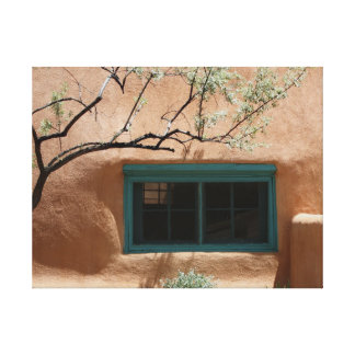 Green Adobe Window Canvas Print