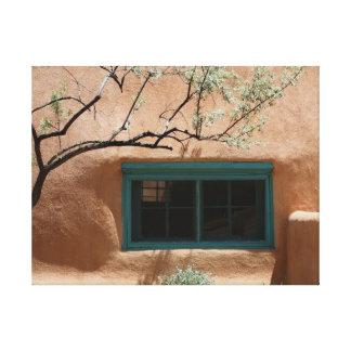 Green Adobe Window Canvas Print