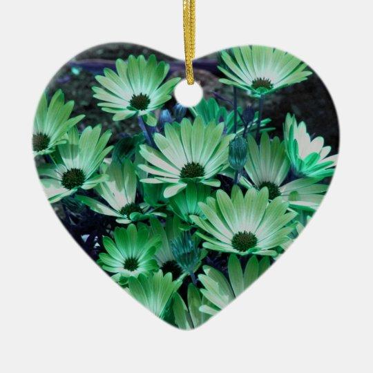 Green African Daisies Flower Ornament