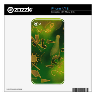 Green African Sunset iPhone 4S Decals