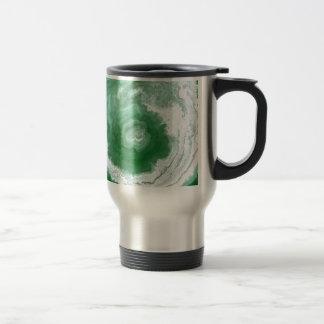 Green Agate Swirl Abstract Mug