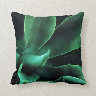 Green Agave Attenuata Throw Pillow