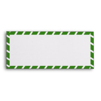 Green Airmail Stripes #10 Envelope