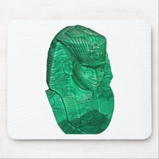Green Alabaster Pharaonic Mask Mouse Pad