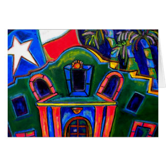 Green Alamo Greeting Card