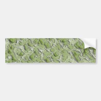 Green algae effect pattern. bumper sticker