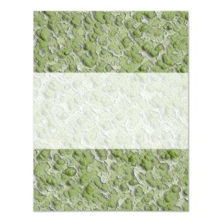 """Green algae effect pattern. 4.25"""" x 5.5"""" invitation card"""