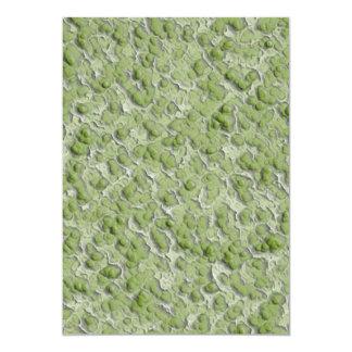 """Green algae effect pattern. 5"""" x 7"""" invitation card"""