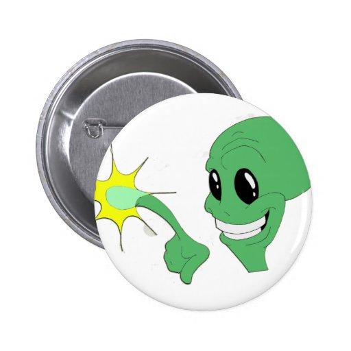 Green Alien 2 Inch Round Button