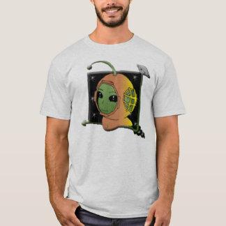 Green Alien Army Soldier T-Shirt