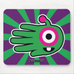 Hand shaped Green Alien Baby Tooth Mouse Pad