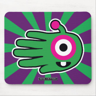 Green Alien Baby Tooth Mouse Pad
