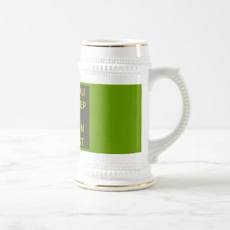 GREEN ALIEN CALM YOU SHALL KEEP CARRY ON YOU MUST MUG