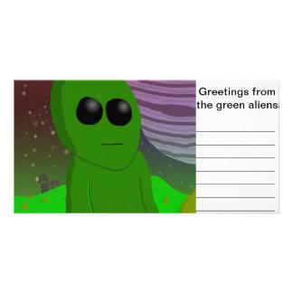 green Alien Card
