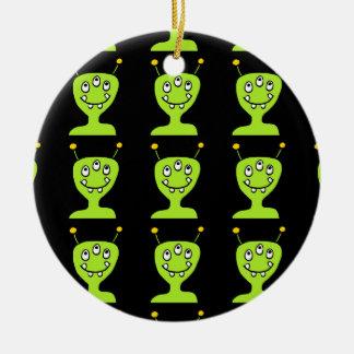 Green Alien Ceramic Ornament