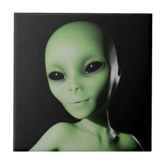 Green Alien Ceramic Tile
