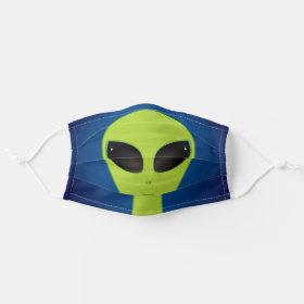 Green Alien Cloth Face Mask