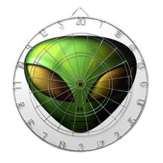 Green Alien Dart Board