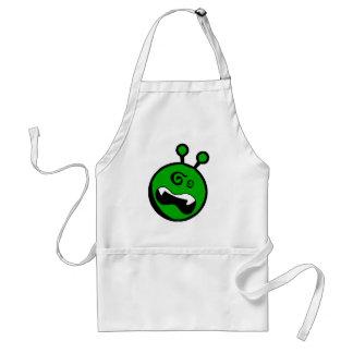 Green Alien dizzy Adult Apron