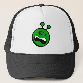 Green Alien dizzy Trucker Hat