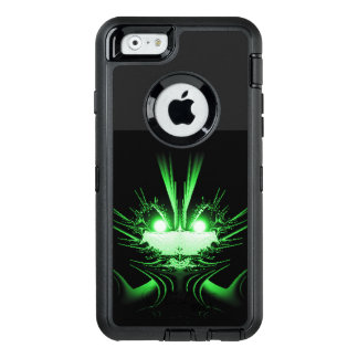 Green Alien Dragon w Glowing Eyes OtterBox Defender iPhone Case