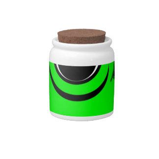 Green Alien Drawing Candy Jars