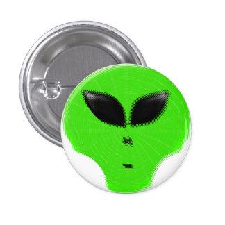 Green Alien Extraterrestrial 1 Inch Round Button