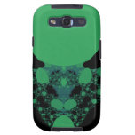 Green Alien Face Fractal Galaxy SIII Cases