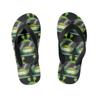 Green Alien Flip Flops, Kids Kid's Flip Flops
