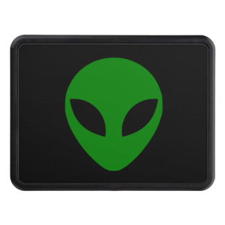 Green Alien Head Tow Hitch Covers