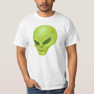 Green alien head tee shirt