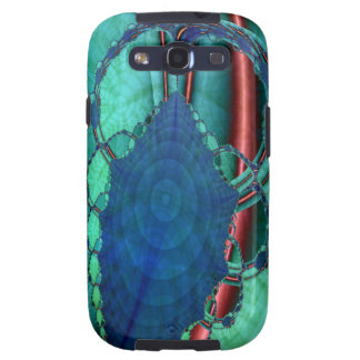 Green Alien Heart Fractal Samsung Galaxy SIII Covers