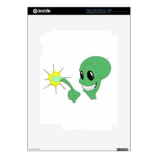 Green Alien iPad 2 Skin